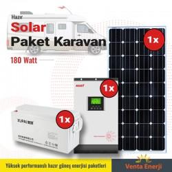 Hazır Solar Paket 180w A - Karavan için