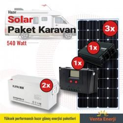 Hazır Solar Paket 540w B - Karavan için