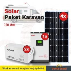 Hazır Solar Paket 720w - Karavan için