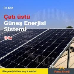 On Grid 10 Kw Güneş Enerjisi Sistemi - Çatı Üstü Elektrik Üretimi