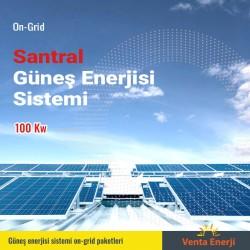 On Grid 100 Kw Güneş Enerji Santrali