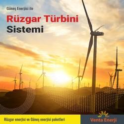 Hibrit Paket 1050 Watt - Güneş Enerjisi ve Rüzgar Enerjisi