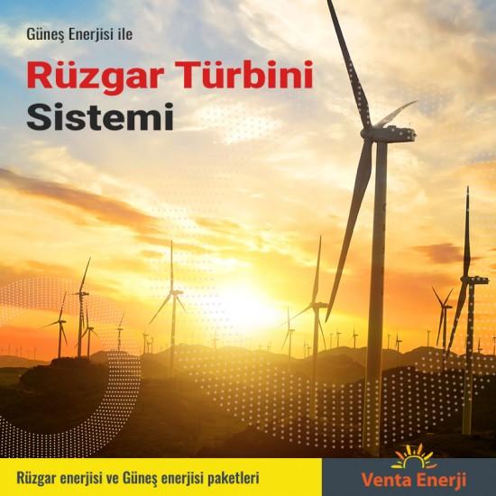Hibrit Paket 8400 Watt - Güneş Enerjisi ve Rüzgar Enerjisi