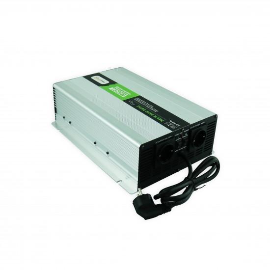 1500 Watt 12 Volt Tam Sinüs İnvertör AC 220V Şarjlı - Solarvertech